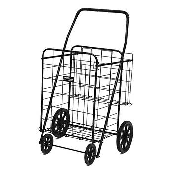 Narita Trading Company Jumbo Shopping Cart Plus - Black