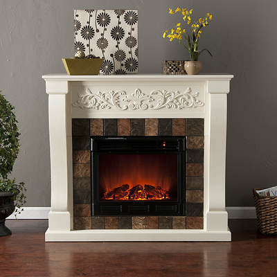 Majestic Electric Fireplace - Ivory