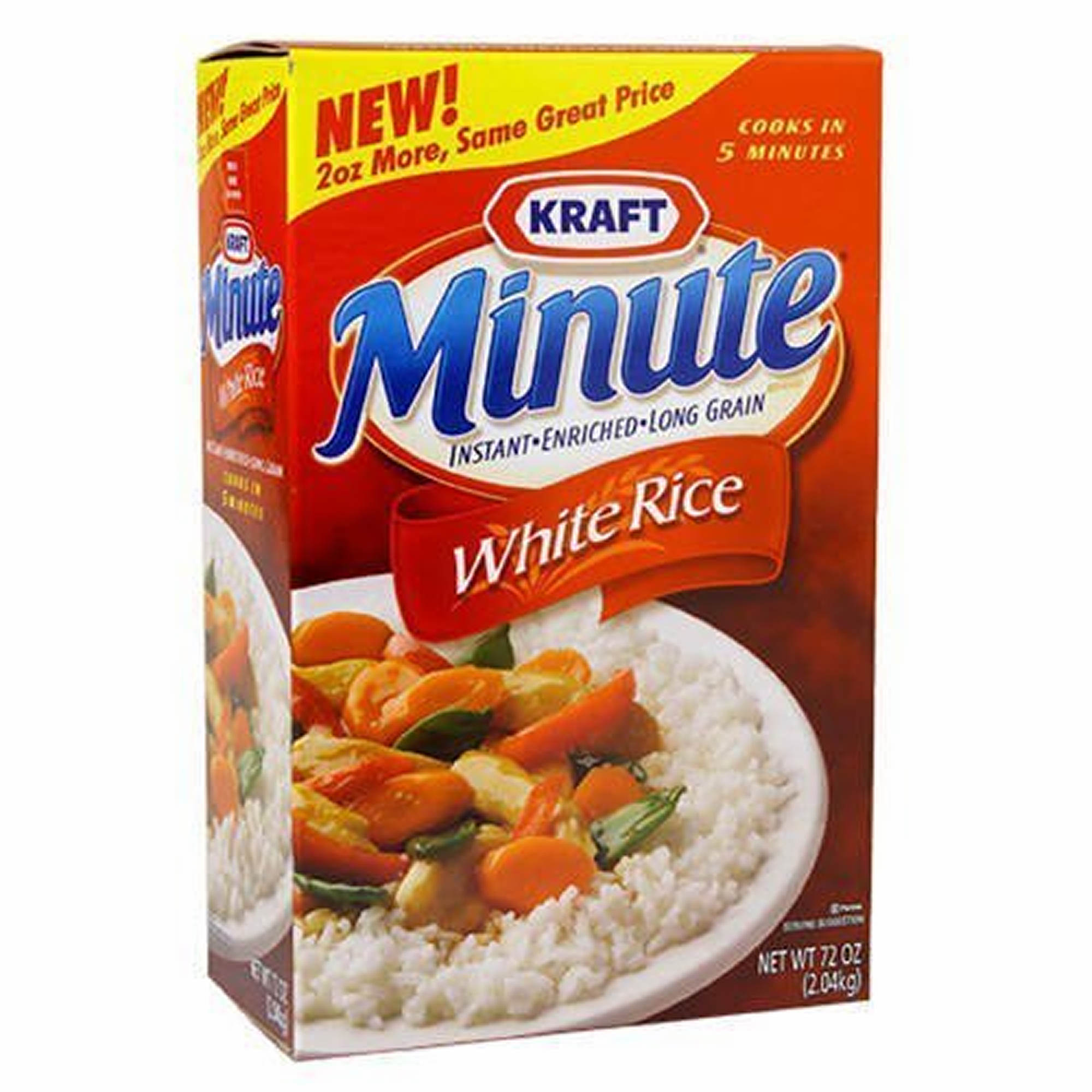 Minute Rice Instant Enriched Long Grain White Rice, 72 oz