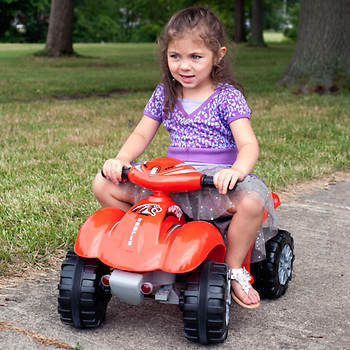 Lil' Rider Battery-Powered Red Raptor 4-Wheeler