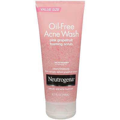 Neutrogena Oil-Free Acne Wash Pink Grapefruit Foaming Scrub, 6.7 Fl. Oz. 2-Pk