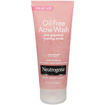 Neutrogena Oil-Free Acne Wash Pink Grapefruit Foaming Scrub, 2 pk./6.7 fl. oz.