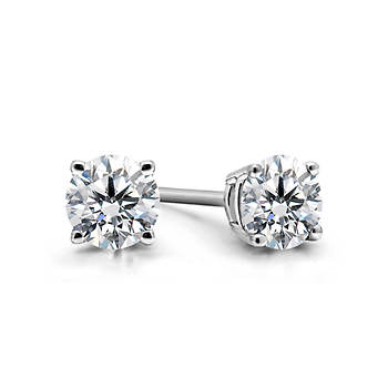 1.50 ct. t.w. Diamond Round-Cut Stud Earrings in 14K White Gold