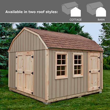Quality Outdoor Structures 10' x 12' Smart Panel Siding Shed with Delivery and Installation