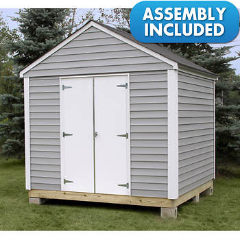 Quality Outdoor Structures 8' x 8' Vinyl Siding Advanta-Shed with Delivery and Installation