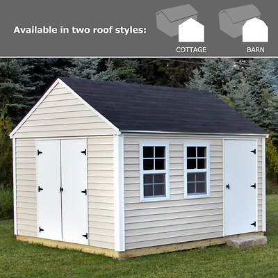 Quality Outdoor Structures 10' x 12' Vinyl Siding Shed with Delivery and Installation