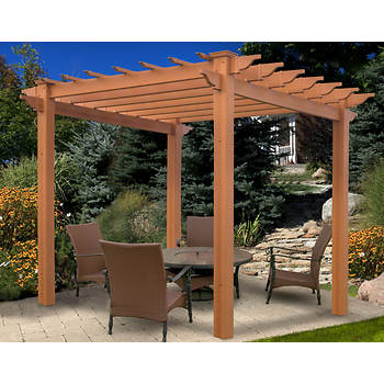 New England Arbors Summerwood Vinyl Pergola