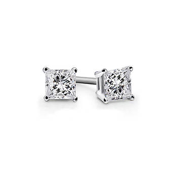 .25 ct. t.w. Diamond Princess-Cut Stud Earrings in 14K White Gold