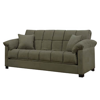 Handy Living Convert-a-Couch Full-Size Sleeper Sofa - Sage