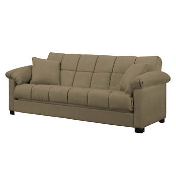 Handy Living Convert-a-Couch Full-Size Sleeper Sofa - Mocha