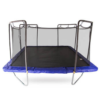 Skywalker Trampolines 15' Square Trampoline with Enclosure - Blue