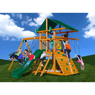Gorilla Playsets Kowabunga Swing Set with Bonus Trapeze Arm