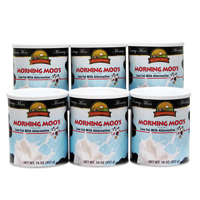 Augason Farms Morning Moo's Low Fat Milk Alternative, 16-Oz. Can, 6-Pk