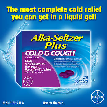 Alka-Seltzer Plus Cold & Cough Liquid Gels, 40 ct.