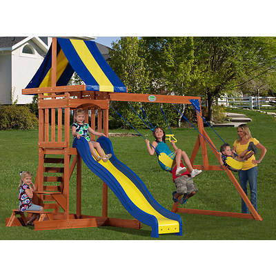 Adventure Playsets Providence Swing Set with Snack Stand