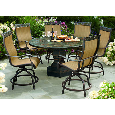 Living Home Outdoors Pietra 7-Piece High Dining Set