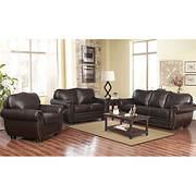 Abbyson Living Barrington 3-Pc. Living Room Set - Dark Brown