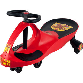 Lil' Rider Wiggle Ride-On Car - Red Rescue Firefighter
