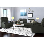 Handy Living 3-Pc. Storage Convert-a-Couch and Recliner Set - Sage