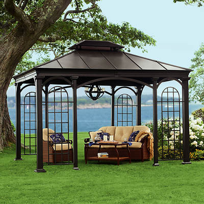 Living Home Outdoors 10' x 12' Aluminum Hardtop Gazebo