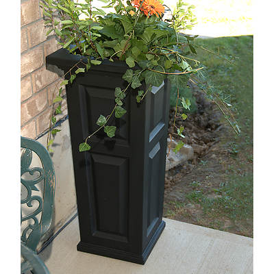 Mayne Cranbrook Tall Planter - Black