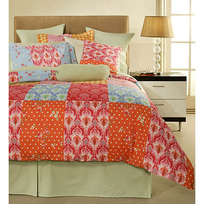 Pointehaven Clarissa California King-Size 12-Piece Bedding Ensemble - Multicolored
