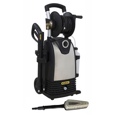 STANLEY 1,800psi 1.4 gpm Electric Pressure Washer with High-Pressure Variable Spray Gun and Bonus Turbo Wand