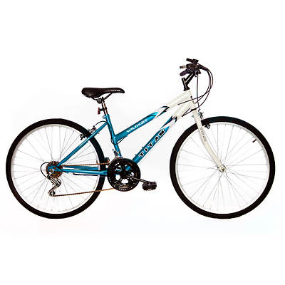 "Titan Wildcat Hardtail Women's 26"" 12-Speed Mountain Bicycle - White/Teal"