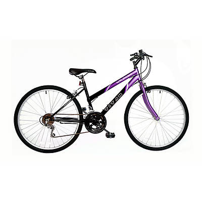 "Titan Wildcat Hardtail Women's 26"" 12-Speed Mountain Bicycle - Purple/Black"