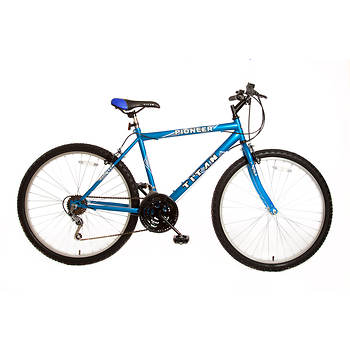 "Titan Pioneer Hardtail Men's 26"" 12-Speed Mountain Bicycle - Blue"
