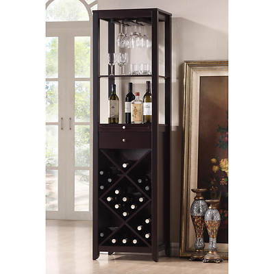 Baxton Studio Austin Wine Tower - Dark Brown