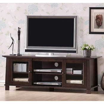 "Baxton Studio Havana 55"" Entertainment Center - Dark Brown"