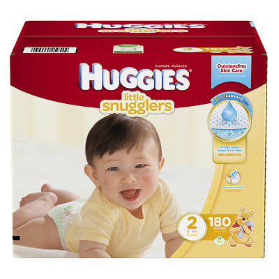 Huggies Little Snugglers Step-2 Diapers, 180 Count