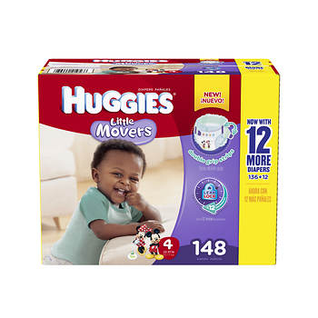 Huggies Little Movers Step-4 Diapers, 148 Count