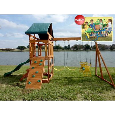 Creative Cedar Designs Skyview Swing Set with 4-Seat Airplane Teeter Totter