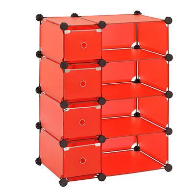 Edsal Modular Cube Storage System - Red