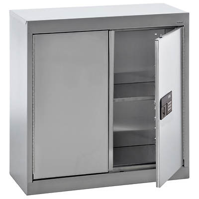 Sandusky Wall Cabinet with Electronic Lock - Stainless Steel