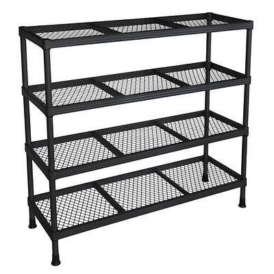 Sandusky 4-Tier 100-lb. Combination Wire Rack - Black