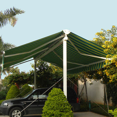 Awntech Beauty-Mark Richmond 10' Double-Sided Freestanding Retractable Awning with 16' Projection