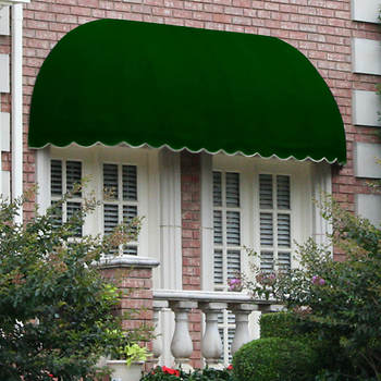"Awntech Beauty-Mark Chicago 76 1/2"" x 31"" Elongated Dome Awning with 24"" Projection"
