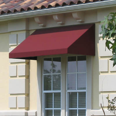 "Awntech Beauty-Mark New Yorker 40 1/2"" x 31"" Rigid Valance Awning with 24"" Projection"