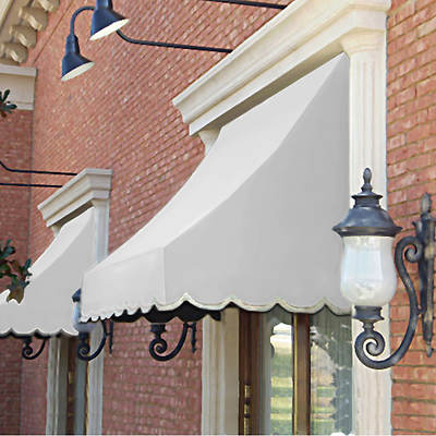 "Awntech Beauty-Mark Nantucket 40 1/2"" x 31"" Crescent-Shaped Awning with 24"" Projection"