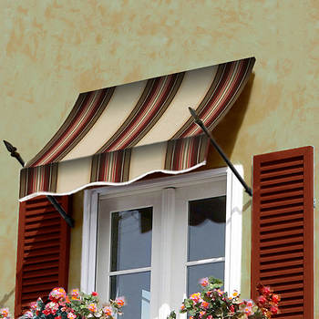 "Awntech Beauty-Mark New Orleans 40 1/2"" x 31"" Spear Arms Awning with 16"" Projection"