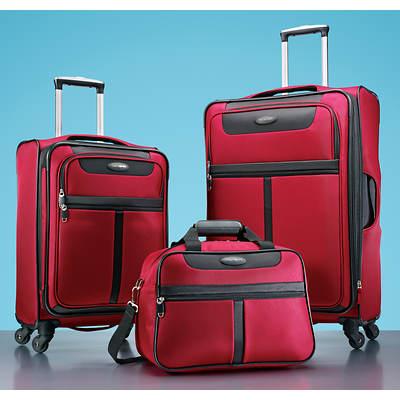 Samsonite Lite 360 3-Piece Luggage Set - Red