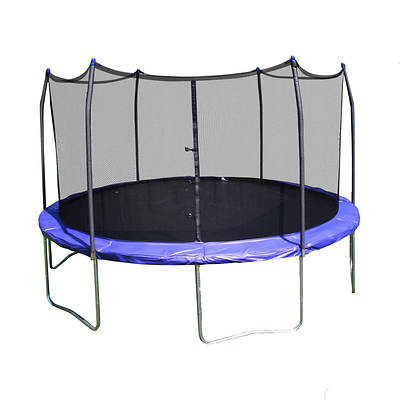 Skywalker Trampolines 12' Round Trampoline with Safety Enclosure - Blue