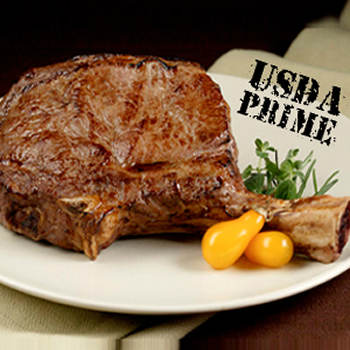 Chicago Steakhouse Premium 24-oz. USDA Prime Bone-In Cowboy Ribeye Steaks, 8 ct.