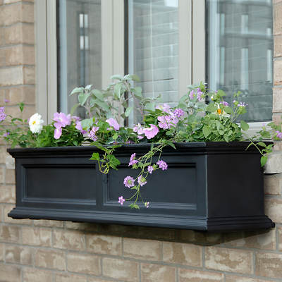 Mayne Fairview 4' Window Box - Black
