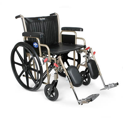 Medline Heavy-Duty Wheelchair with Microban Antimicrobial Technology
