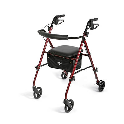 Medline Freedom Ultra-Light Rollator - Burgundy