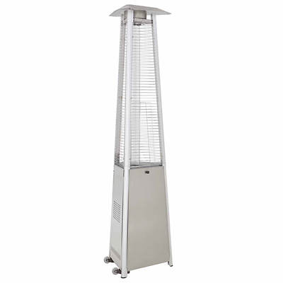 Hiland Commercial Quartz Glass Tube Outdoor Propane Patio Heater - Stainless Steel